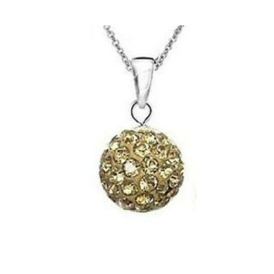 Arany shamballa kristályos nyaklánc - II. osztályú termék