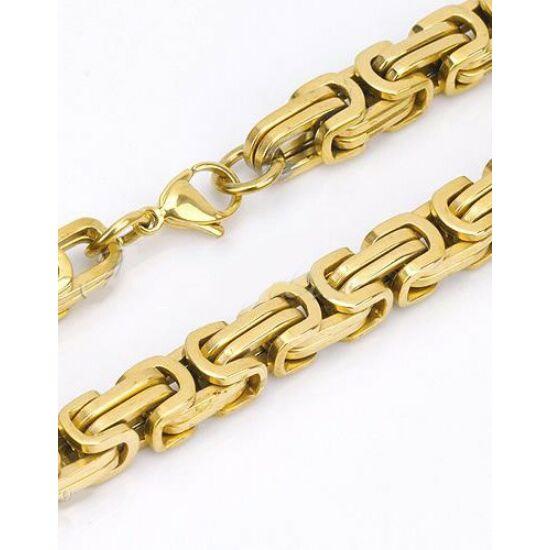 Arany színű bizánci nemesacél nyaklánc ékszer