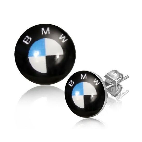 BMW jelű pont nemesacél fülbevaló