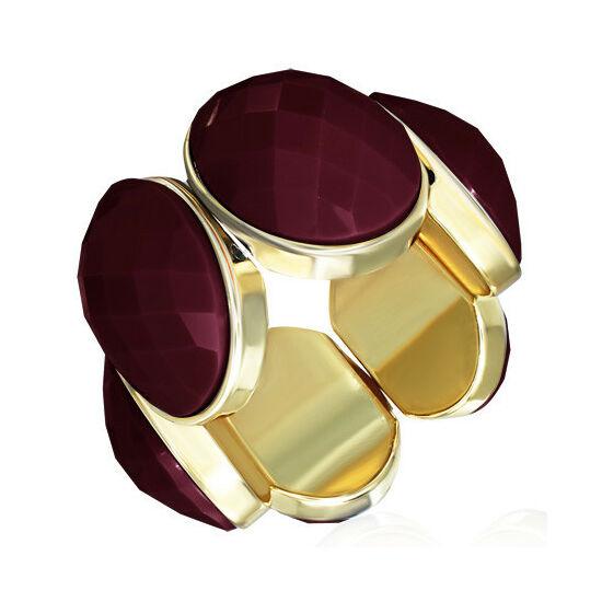 Bordó, Burgundy köves, rugalmas divatos karkötő ékszer