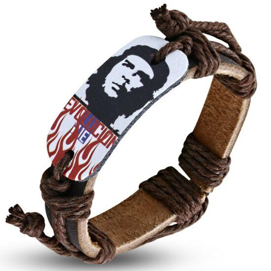 Che Guevara mintás bőr karkötő