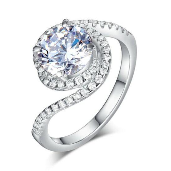 Csavart formájú ezüst gyűrű-5