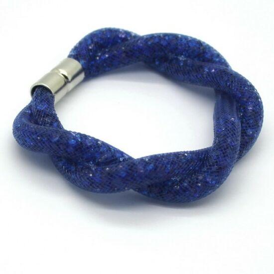 Csavart mágneses kristályos karlánc - Kék