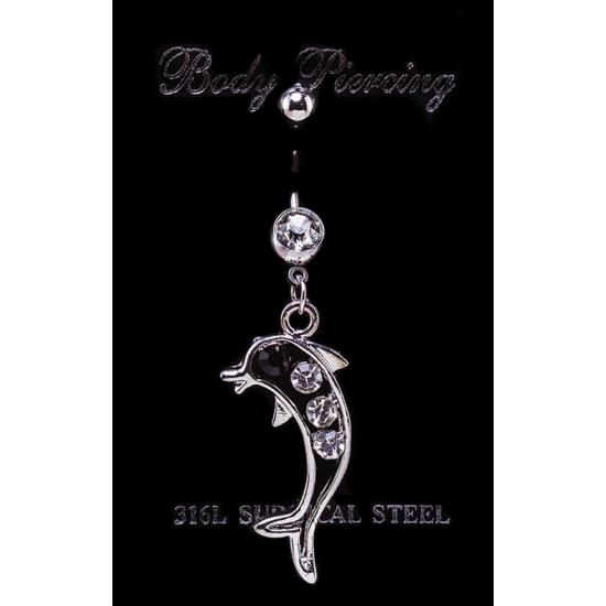 Delfines nemesacél piercing
