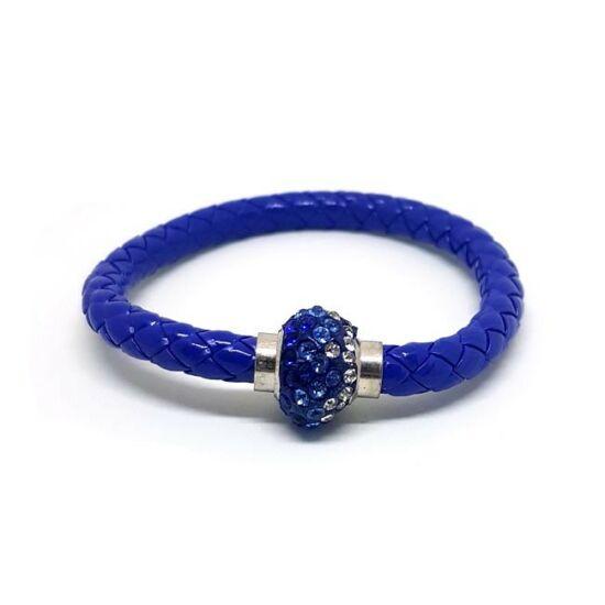 Divatos shamballa karkötő - kék