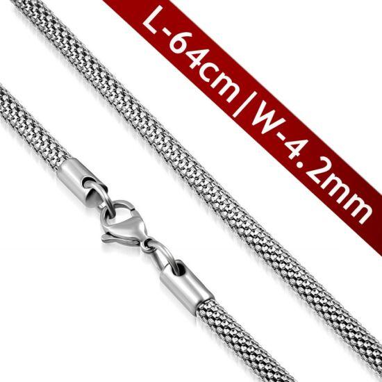 Elegáns hálószövésű ezüstszínű nyaklánc