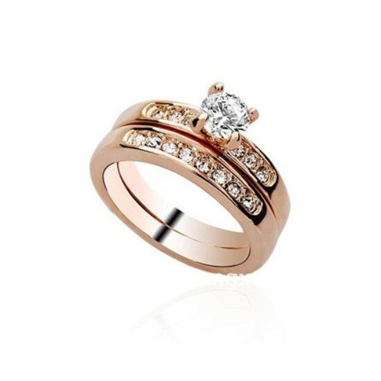 Exkluzív aranyozott gyűrű  52