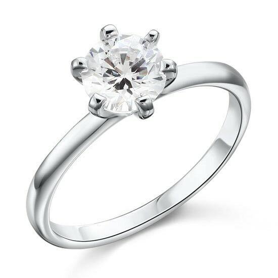 Ezüst gyűrű átlátszó kristállyal-6