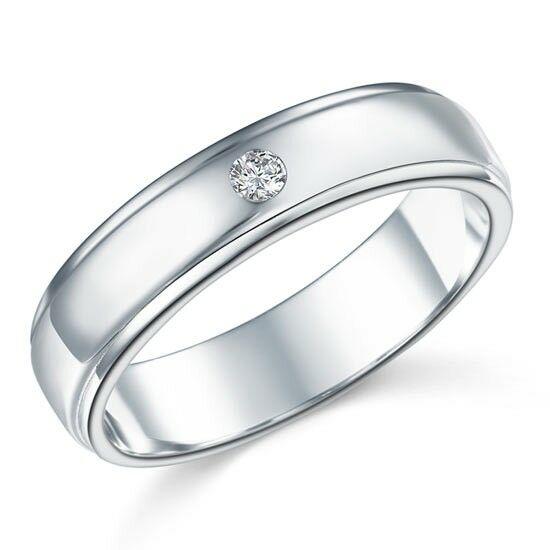 Ezüst gyűrű szintetikus gyémánt kővel-9