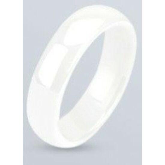 Fehér, strapabíró kerámia gyűrű ékszer