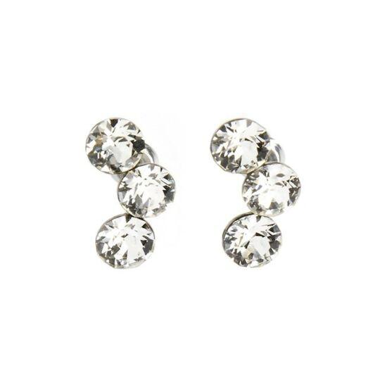 Félhold Swarovski kristályos nemesacél fülbevaló - Crystal