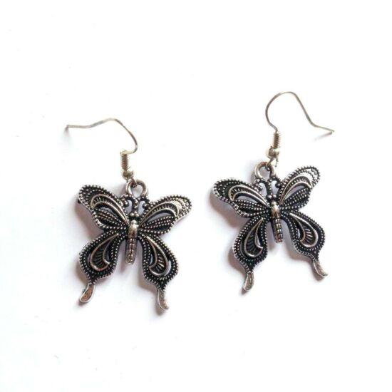 Fém pillangó fülbevaló