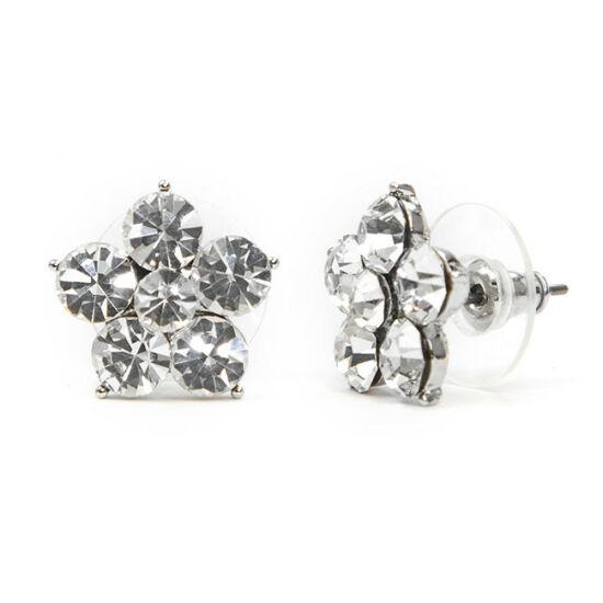 Flamo Swarovski kristályos virág formájú fülbevaló - Áttetsző