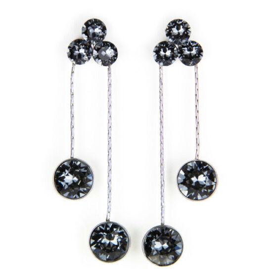 Flower Swarovski kristályos nemesacél fülbevaló - Silver