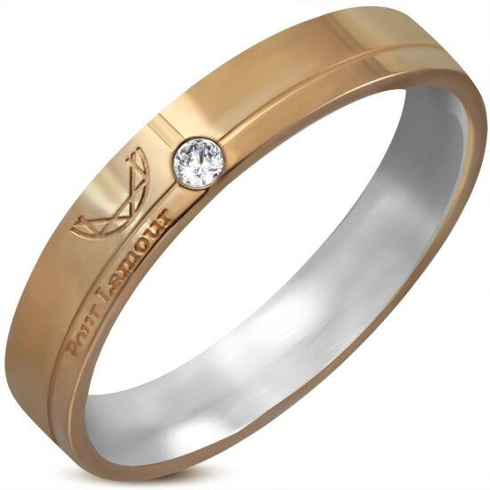 Francia elegancia gyűrű