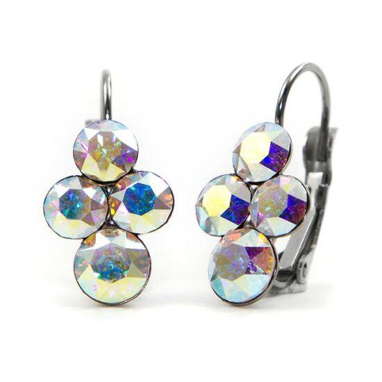 Fürt Swarovski® kristályos nemesacél fülbevaló - Crystal AB
