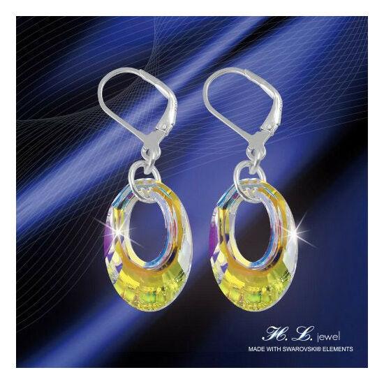 H. L. Jewel Swarovski® kristályos ezüst fülbevaló - Árnyék Crystal AB