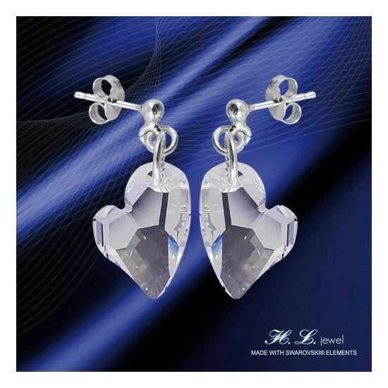 H. L. Jewel Swarovski® kristályos ezüst fülbevaló - Love Crystal