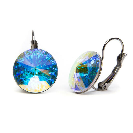 Hold Swarovski® kristályos nemesacél fülbevaló - Crystal AB
