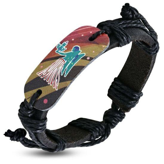 Horoszkópos bizsu bőr karkötő - Szűz