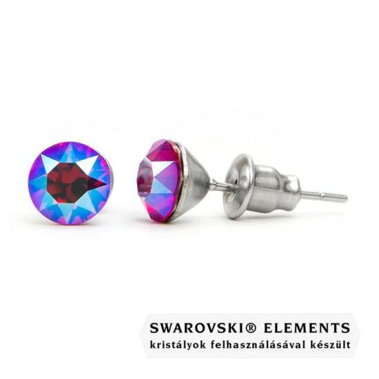 Jazzy rózsaszín Swarovski® kristályos fülbevaló - Light Siam Shimmer