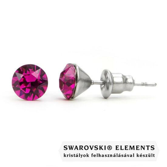 """Jazzy sötét rózsaszín SWAROVSKI® kristályos fülbevaló """"Capricornus""""- Fuchsia"""