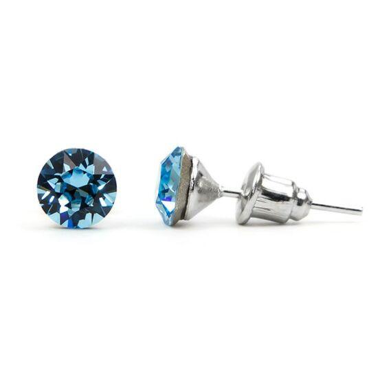 Jazzy SWAROVSKI® kristályos fülbevaló - Kerek Világos Kék