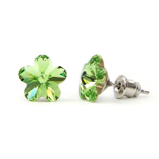 Jazzy SWAROVSKI® kristályos fülbevaló - Virág Zöld