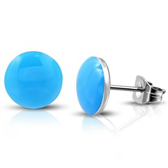 Kék színű pont nemesacél fülbevaló ékszer