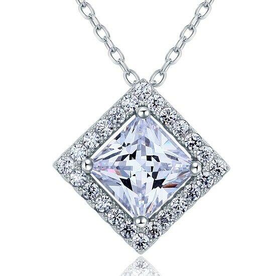 Kocka alakú ezüst nyaklánc - 925 ezüst ékszer