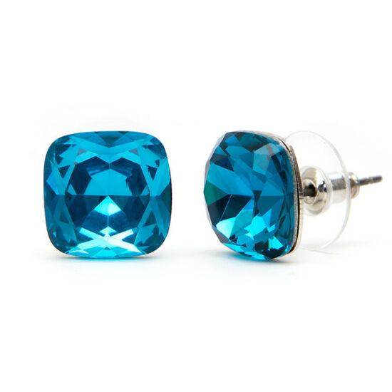 Lena Swarovski kristályos fülbevaló - Kék nagyköves