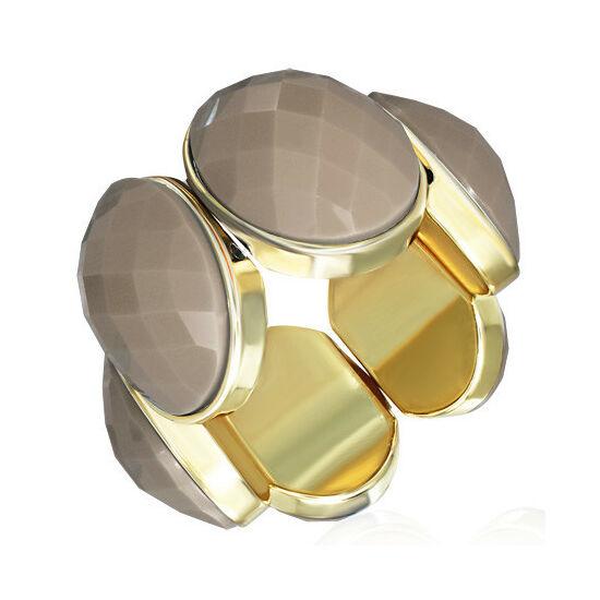 Mogyoró - arany színű, rugalmas divatos karkötő