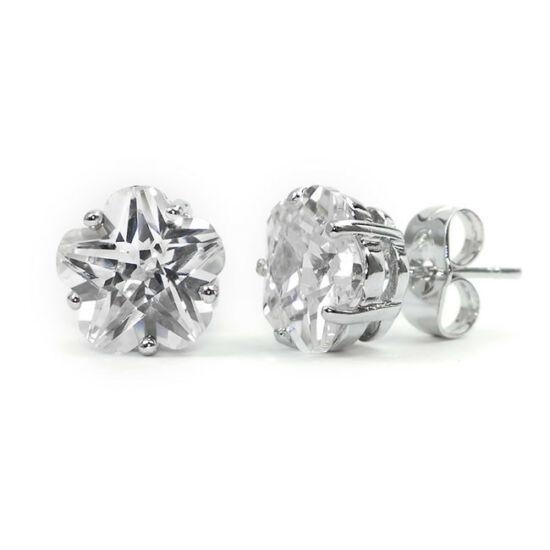 Molly Swarovski kristályos virág alakú fülbevaló - Áttetsző