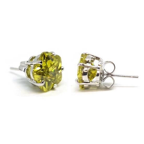 Molly Swarovski kristályos virág alakú fülbevaló - Sárga