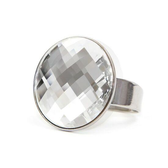 Moon Swarovski® kristályos nemesacél gyűrű - Crystal