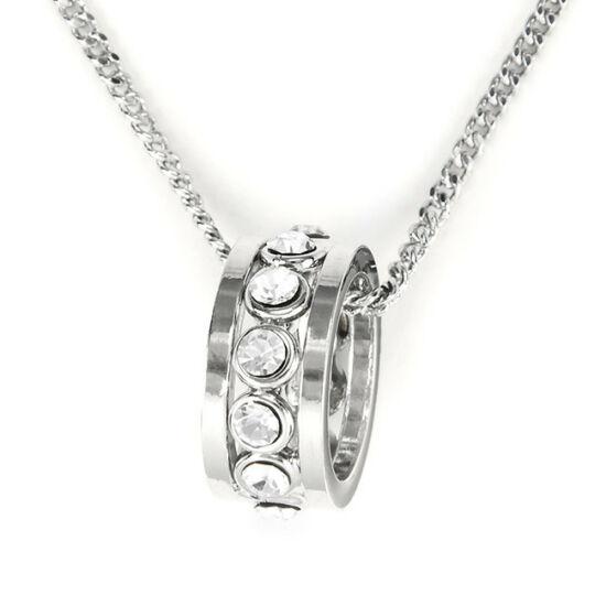 Nyaklánc gyűrű alakú, Swarovski köves medállal