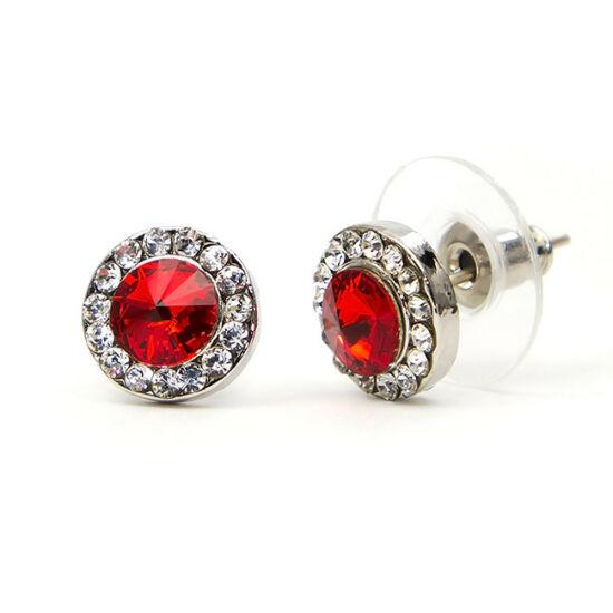 Robin Swarovski kristályos fülbevaló - Piros