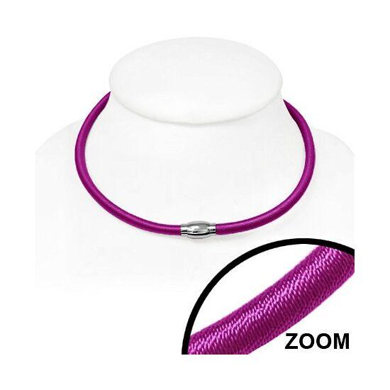 Rózsaszín rugalmas nyaklánc ékszer, mágneses zárral