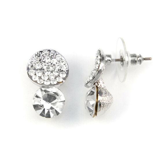 Ruby Swarovski kristályos fülbevaló - Áttetsző