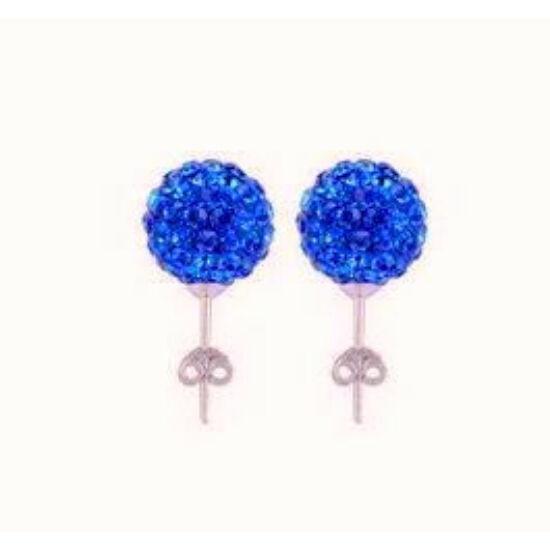 Shamballa fülbevaló - sötét kék