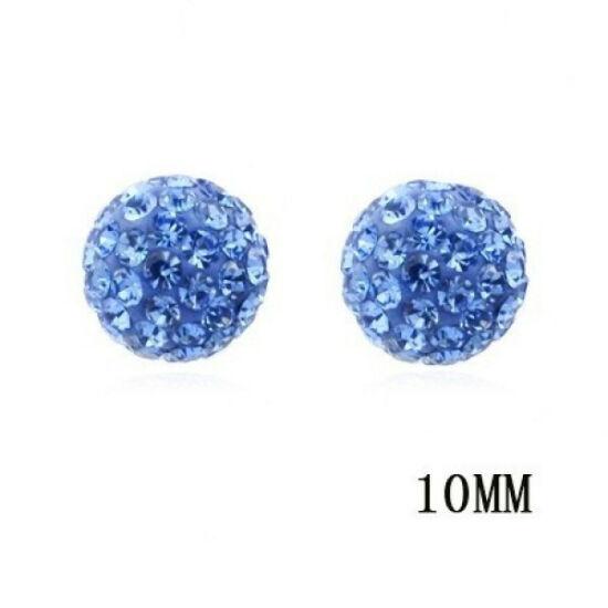 Shamballa fülbevaló - világos kék