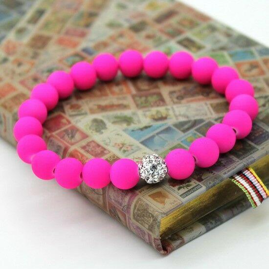 Shamballa karkötő - pink