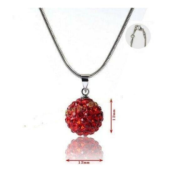 Shamballa nyaklánc - piros