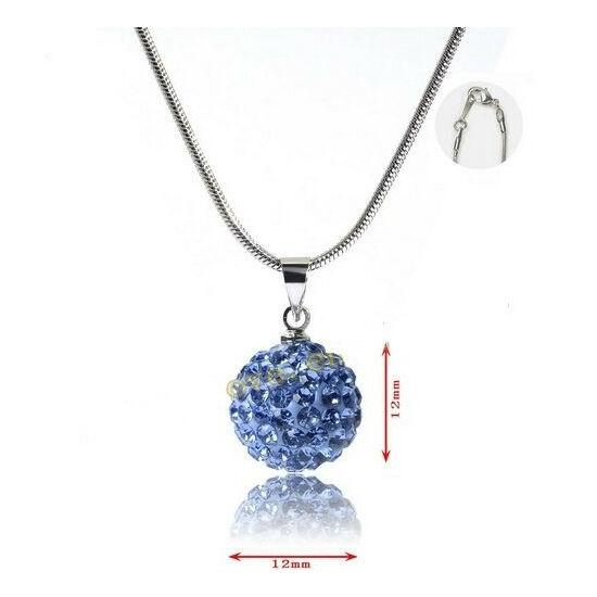 Shamballa nyaklánc - világos kék