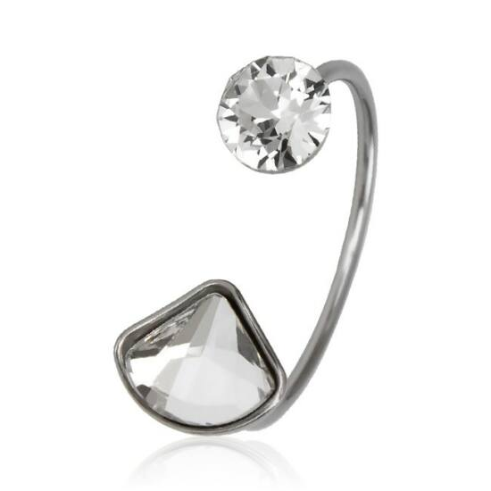 Shell Swarovski® kristályos nemesacél gyűrű - Crystal