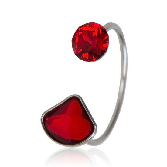 Shell Swarovski® kristályos nemesacél gyűrű - Light Siam