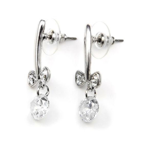 Sneezy Swarovski kristályos fülbevaló - Masnis  Áttetsző kristállyal