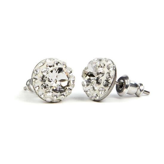Suny Swarovski kristályos nemesacél fülbevaló - Crystal