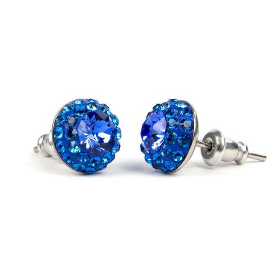 Suny Swarovski kristályos nemesacél fülbevaló - Kék
