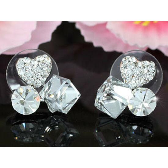 Swarovski kristályos fülbevaló háromféle kővel
